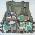 Kids Tactical Combat Vest Woodland Camo 9 Pockets Adjustable