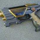 "Command Toy Pistol 9"" Lights Sounds Grey/Gold"