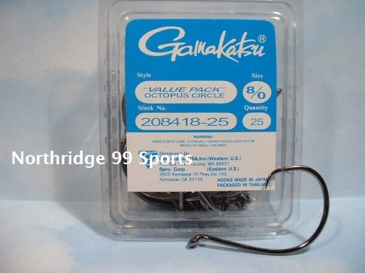 GAMAKATSU OCTOPUS CIRCLE hooks 8/0 25 Package