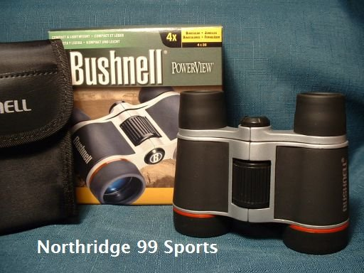 BUSHNELL Binoculars Powerview 4 X 30 w Carry Case NEW
