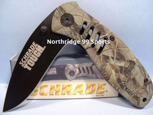 SCHRADE TOUGH CAMO POCKET KNIFE MODEL ST6C