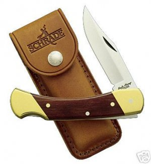 SCHRADE UNCLE HENRY BEAR PAW LB7  w/ Leather Sheath NEW