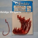 GAMAKATSU WORM hooks 5/0 RED EWG 25 Package