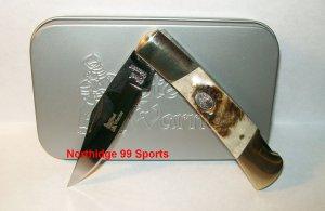 Steel Warrior Barracuda Deer Stag Pocket Knife SW100DS