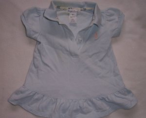 3-6 month Ralph Lauren Baby light blue dress
