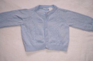 3-6 mo boys light blue button up sweater