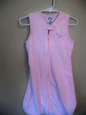0-6 month old pink sleep sack