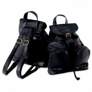 Genuine Lambskin Leather Backpack Purse