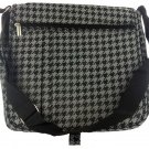 Marc Gold Black/Silver Houndstooth Messenger Bag