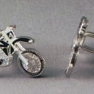 New Twin Set Cufflinks Quality Enamel 25mm Sports Motorcross Black Colour Choice
