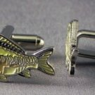 New Twin Set Cufflinks Fun Novelty Quality Enamel 25mm Mirror Carp Fishing Gift