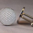 New Twin Set Cufflinks Fun Novelty Quality Enamel 19mm Sport Golf Ball Gift
