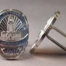 New Twin Set Cufflinks Novelty Enamel 25mm LA Police Office Badge Los Angeles