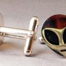 New Twin Set Cufflinks Fun Novelty Quality Enamel 19mm Alien Head Classic Gift