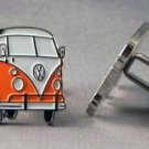 New Twin Set Cufflinks Novelty Enamel 25mm VW Camper Van Red Green Orange Choice