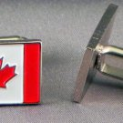 New Twin Set Cufflinks Fun Novelty Quality Enamel 19mm Country Flag Canada Maple
