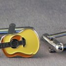 New Twin Set Cufflinks Quality Enamel 29mm Acoustic Guitar Music Fun Gift