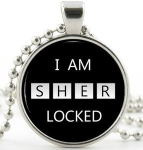 I am Sherlocked Pendant - Silver Necklace - Sherlock Holmes Picture Jewellery