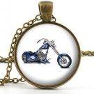 American Chopper Pendant - Necklace - Motorcycle Motorbike Biker Art Jewellery