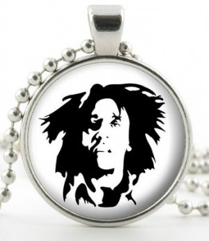 Bob Marley Pendant - Necklace - Silver Pendant - Reggae Singer Icon Jewellery