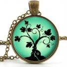 Green Tree of Life Pendant - Necklace - Antique Mythology Art Picture Jewellery