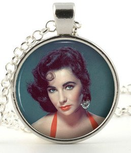 Elizabeth Taylor Necklace - Retro Film Star Hollywood Pendant -Picture Jewellery