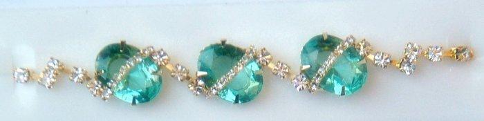 Stunning  Designer 24K Gold Plated Bracelet with Turquoise