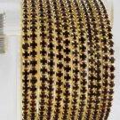 Stackable Crystal Rhinestone Bangle Bracelet 12pcs Purple