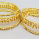 Set of Six Indian Crystal Rhinestone Bangle Bracelet