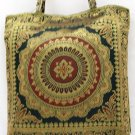 Black Silk Embroidered Brocade Evening Bag Purse Handbag