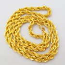 Extra Thick 22 Inch 22K Gold Plated Cable French Rope Chain