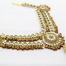 Elaborate Design Indian Bridal Kundan Saree Waist Belt