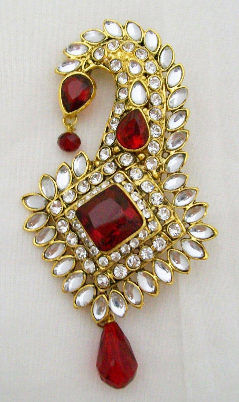 Kalgi Sarpech Turban Jewel Pin Indian Sikh Wedding Groom