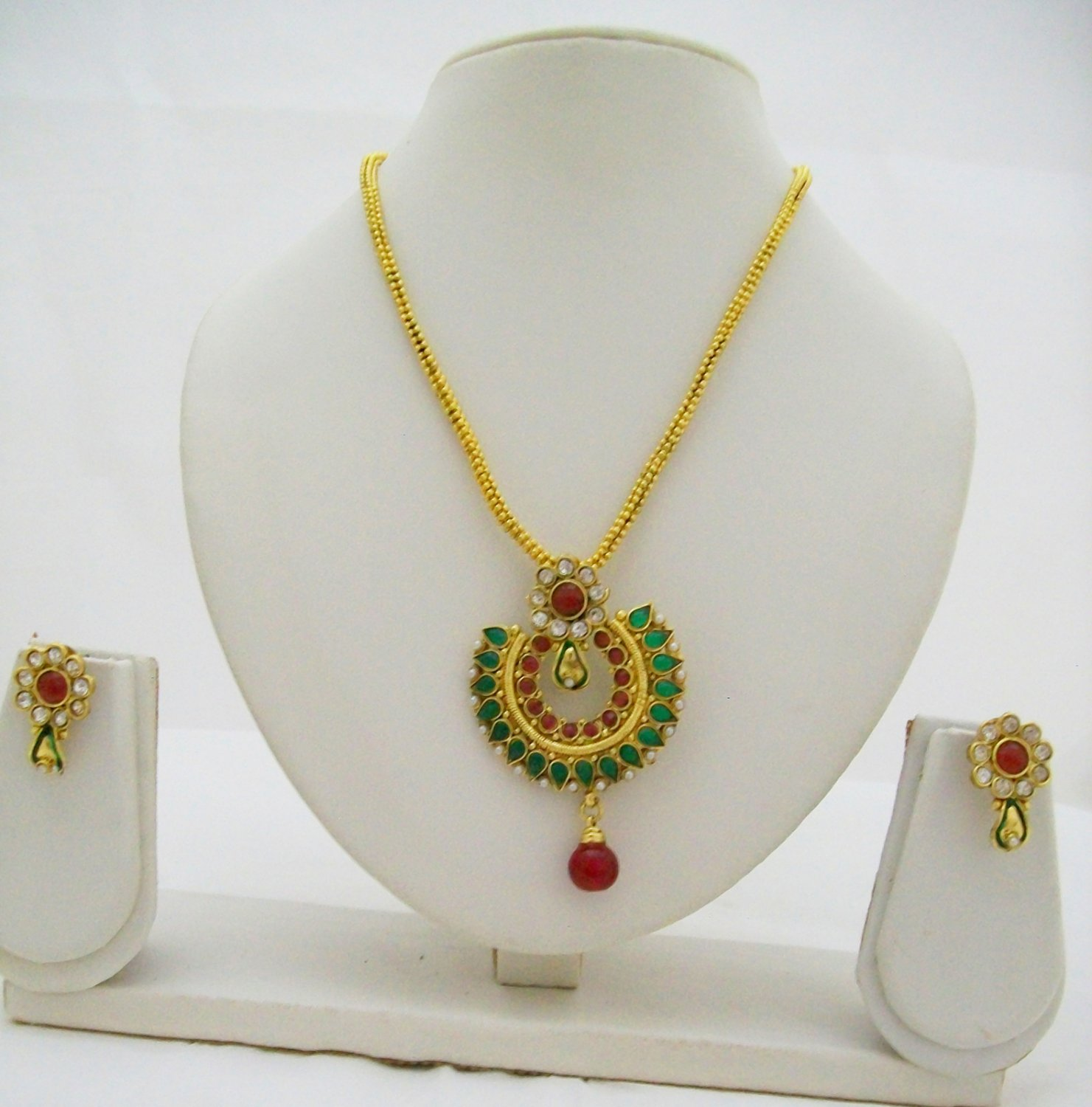 Kundan Work Necklace Earring Set