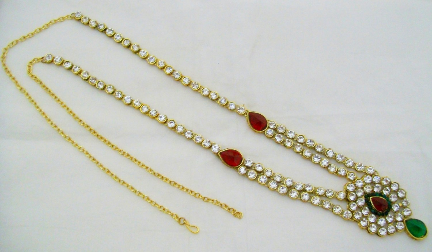 CZ Waist Belt Chain Indian Bridal Wedding Jewellery Gift
