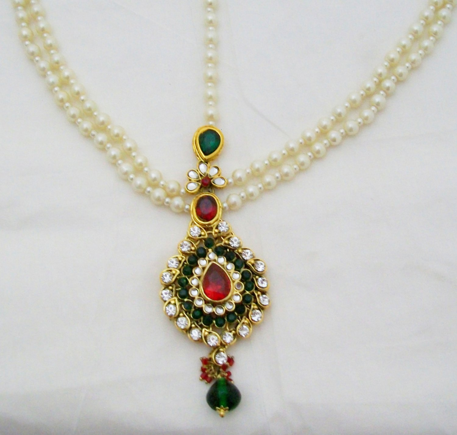 Elegant Pearl Kundan Matha Patti Antique Vintage Asian Style