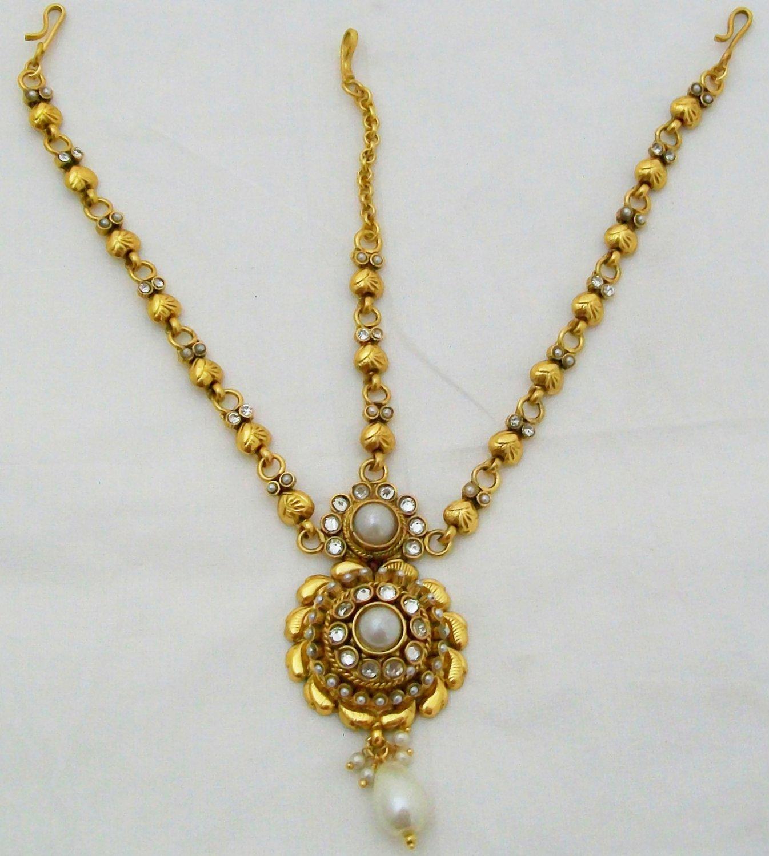 Kashmiri Pearl Kundan Matha Patti Latest Design