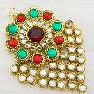 Kundan Jhoomar Passa Ethnic Indian Wedding Hair Jewelry
