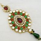 Kundan Jhoomar Tikka Mughal Pakistani Nizam Hijab Jewelry
