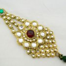 Big Indian Jhumar Kundan Tikka Bridal Hair Decoration Ornament