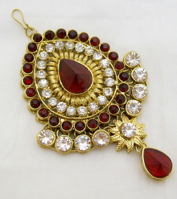 CZ Jhoomar Passa Tikka Indian Women Wedding Hair Accessories