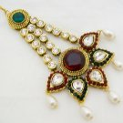 Big Antique Style Kundan Jhoomar Indian Wedding Hair Jewellery