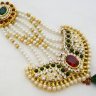 Large Pearl Kundan Jhoomar Bridal Headpiece Jewellery