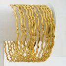 12 Pc Stackable Skinny Gold Plated Bangle Bracelets Zig Zag Wave