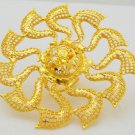 Indian Filigree Gold Plated Ring Big Bridal Wedding Marriage Engagement Jewelry
