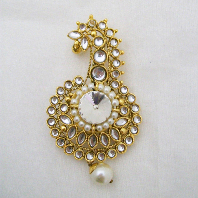 2c2e3dcceacea Kundan Kalgi Brooch Indian Groom Turban Marriage Wedding Ceremony Jewellery