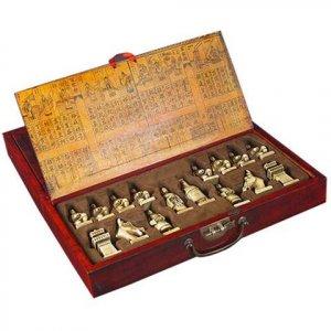 "Rare Funny occidental ""CHESS"" 32 bone carve and box"