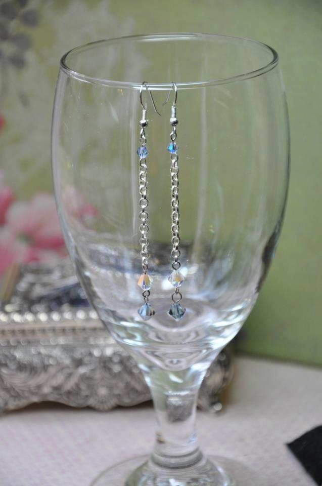 Crystal Chain Swarovski Crystal Drop Earrings