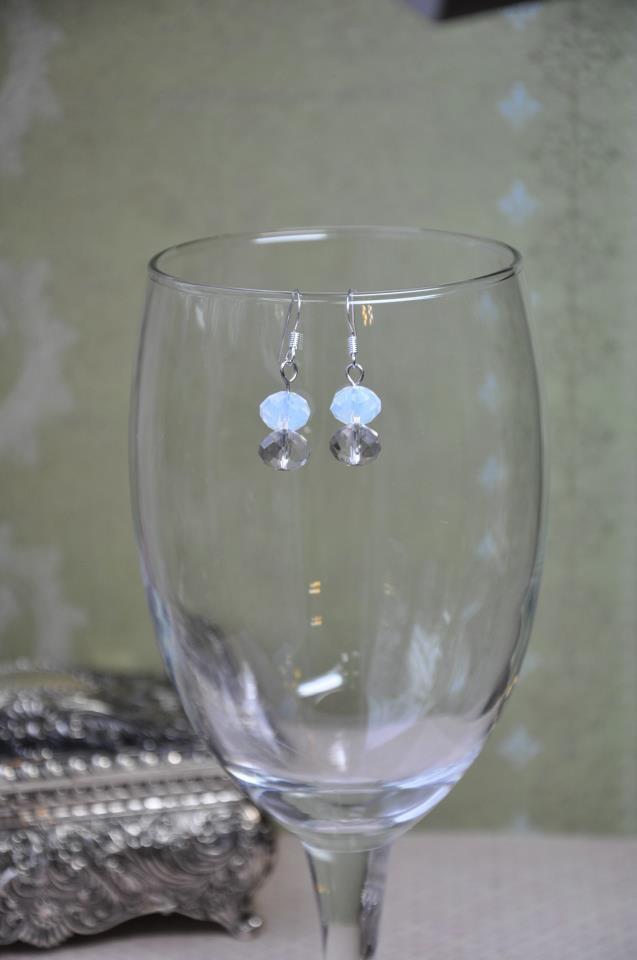 Day to Night Drop Crystal Bead Dangle Earrings