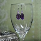 Purple Chunky Bauble Bead Dangle Earrings